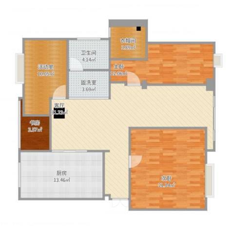 盐城紫薇花园3室3厅3卫1厨141.00㎡户型图