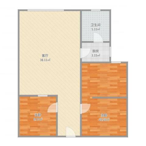 司法大厦2室1厅1卫1厨101.00㎡户型图