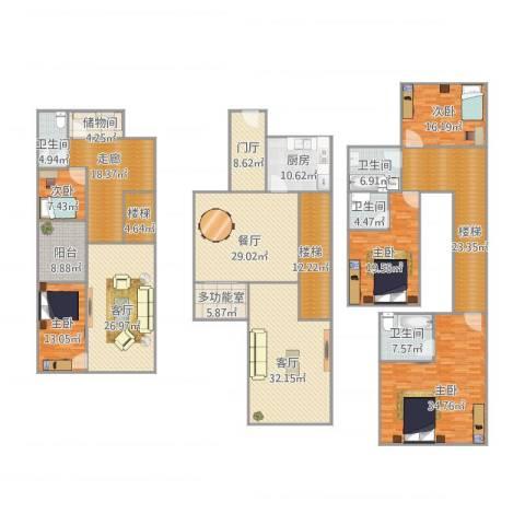 凯德泊宫5室3厅4卫1厨400.00㎡户型图