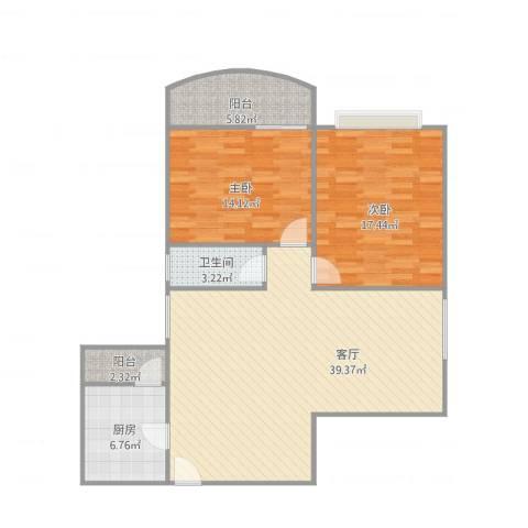 新燕花园C3-03户型图2室1厅1卫1厨119.00㎡户型图