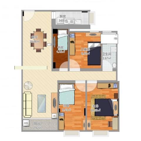 金逸轩4室1厅1卫1厨101.00㎡户型图