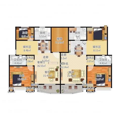 万兆家园四期3室2厅8卫2厨212.00㎡户型图