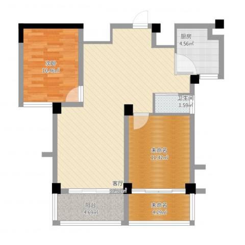 景城名郡1室1厅1卫1厨97.00㎡户型图