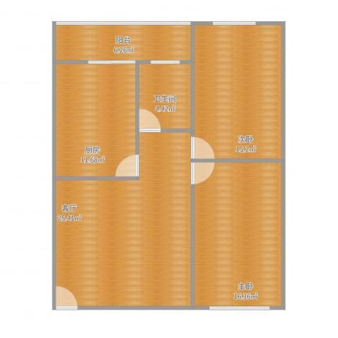 江滨大厦2室1厅1卫1厨84.78㎡户型图