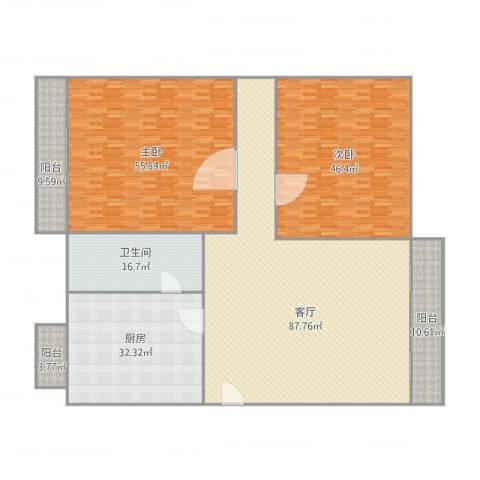 康城尚域2室1厅1卫1厨343.00㎡户型图