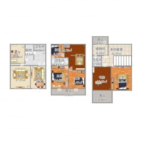 杨王苑501弄6室3厅3卫1厨214.86㎡户型图