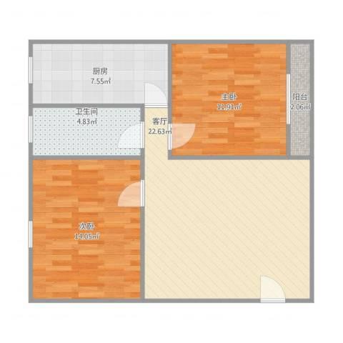 福隆花园22室1厅1卫1厨85.00㎡户型图
