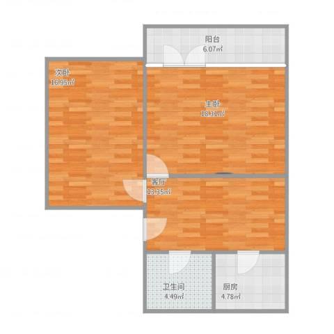 颛溪七村2室1厅1卫1厨85.00㎡户型图