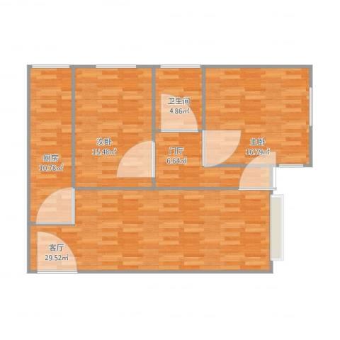 石佛营西里2室1厅1卫1厨112.00㎡户型图