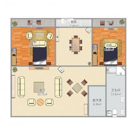 师范小区2室4厅1卫1厨180.00㎡户型图