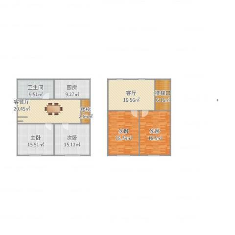 长江花园4室3厅1卫1厨181.00㎡户型图