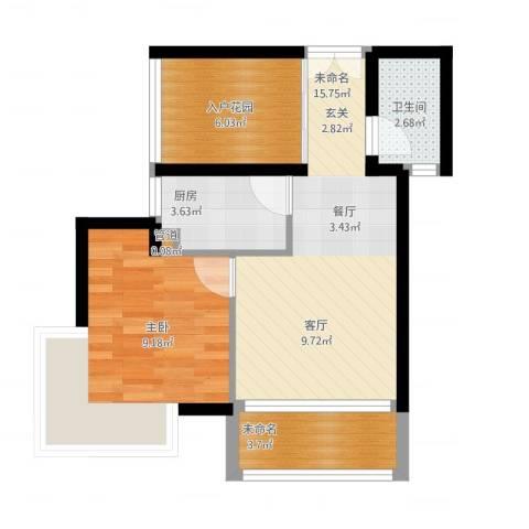 弗拉明戈屿海1室1厅4卫1厨60.00㎡户型图