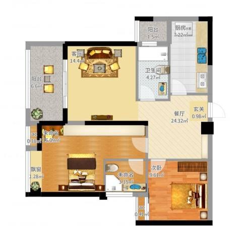 上东曼哈顿1室1厅1卫1厨106.00㎡户型图