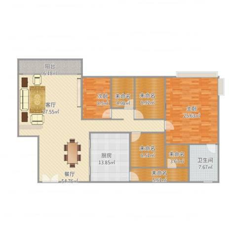 东骏豪苑2室1厅1卫1厨198.00㎡户型图