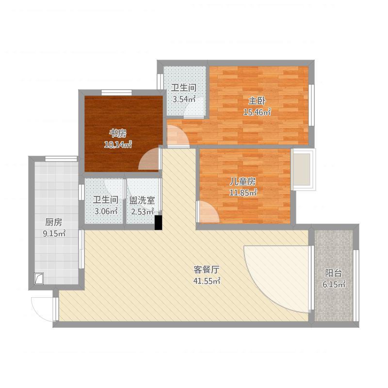 124平米三室两厅