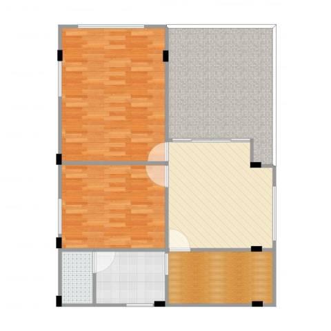 万科云山2室1厅1卫1厨102.00㎡户型图