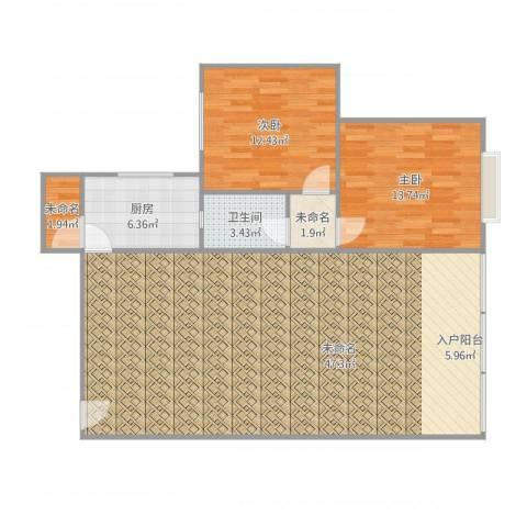 龙脊万兴家园2室1厅1卫1厨126.00㎡户型图