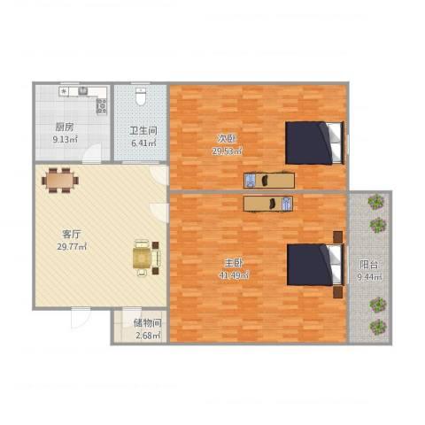通汇新村2室1厅1卫1厨169.00㎡户型图