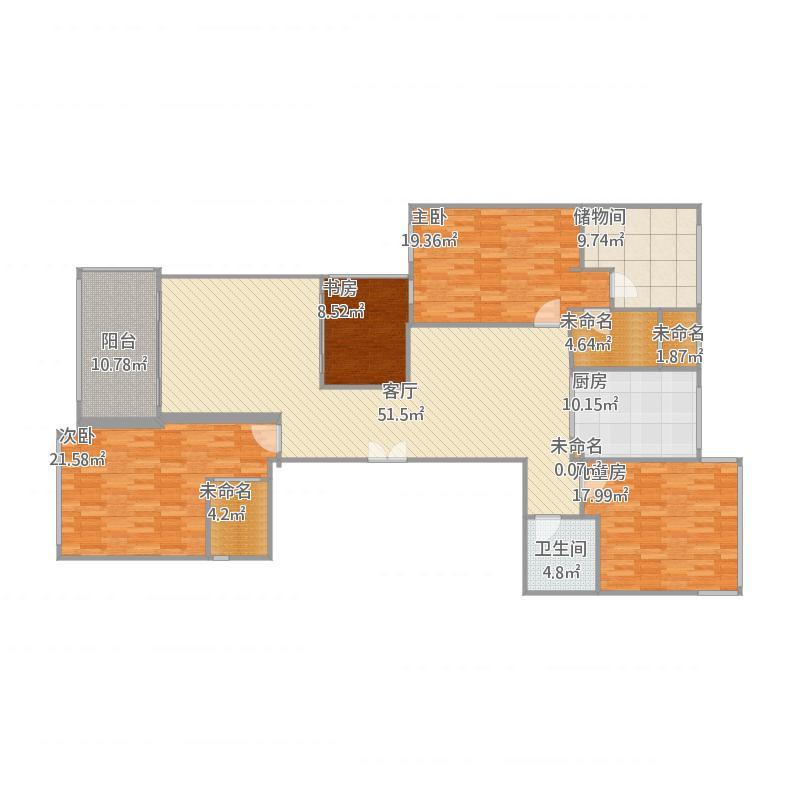 4栋A户型4室2厅4卫1厨 18