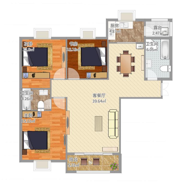 家装施工图效果图