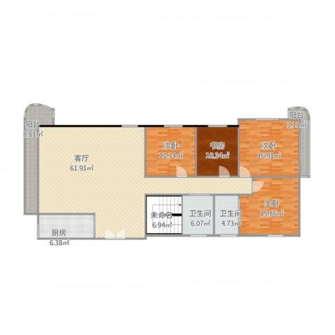 恒丰花园4室1厅2卫1厨204.00㎡户型图