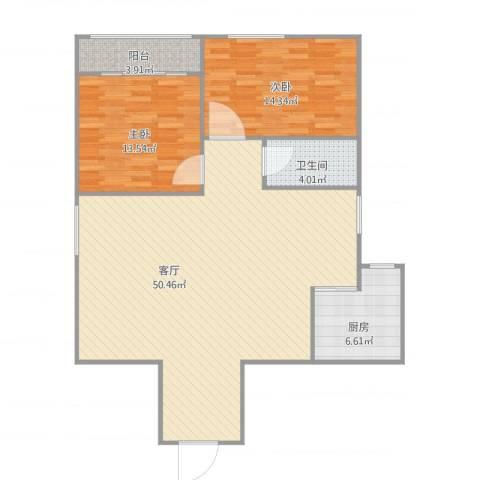 厚辉广场jia14032室1厅1卫1厨123.00㎡户型图
