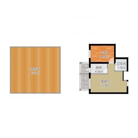 中山国际1室2厅1卫1厨146.00㎡户型图