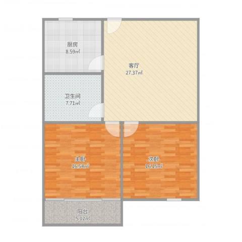 奉浦二村12号2022室1厅1卫1厨108.00㎡户型图