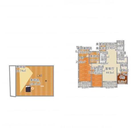 同进君望3室2厅1卫2厨361.00㎡户型图