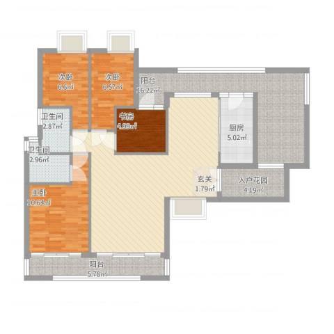 新鹰国际4室2厅2卫1厨140.00㎡户型图