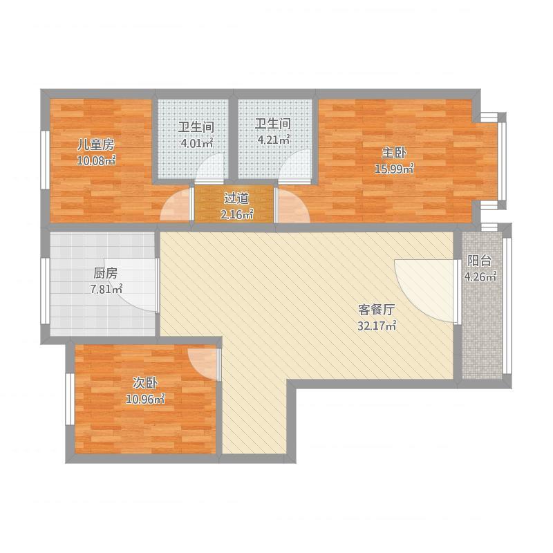 御河湾三室两厅一厨两位