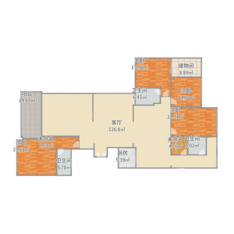 5栋A.B户型5室2厅4卫1厨