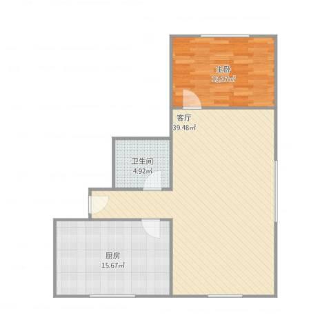 友谊公寓2室1室1厅1卫1厨97.00㎡户型图