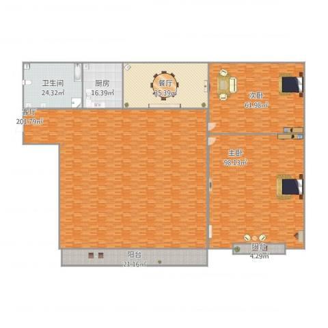 圣地亚哥2室2厅1卫1厨599.00㎡户型图
