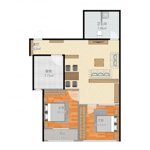 文东花园892室1厅1卫1厨94.00㎡户型图