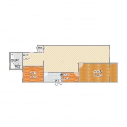 南线阁街甲35号院1室1厅1卫1厨118.00㎡户型图