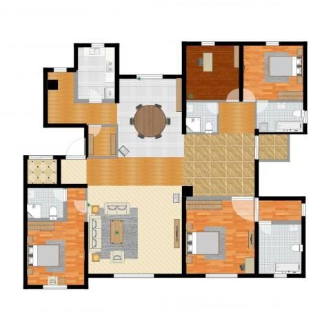 远洋天著4室2厅6卫1厨256.00㎡户型图