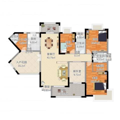 虎门国际公馆4室3厅7卫2厨213.00㎡户型图