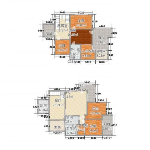 瓜渚绿洲5室2厅5卫1厨244.00㎡户型图