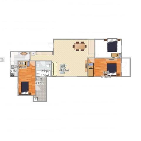 虹古小区2室1厅1卫1厨116.00㎡户型图
