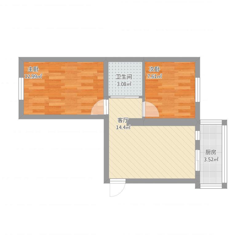 两室一厅一厨一卫