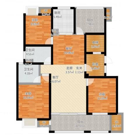 复地新都国际4室1厅5卫4厨160.00㎡户型图