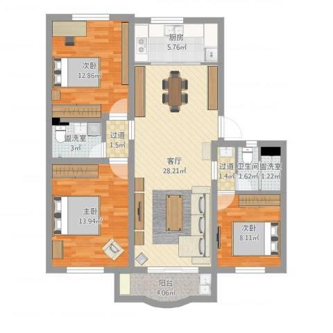 水清三村1093室5厅1卫1厨119.00㎡户型图