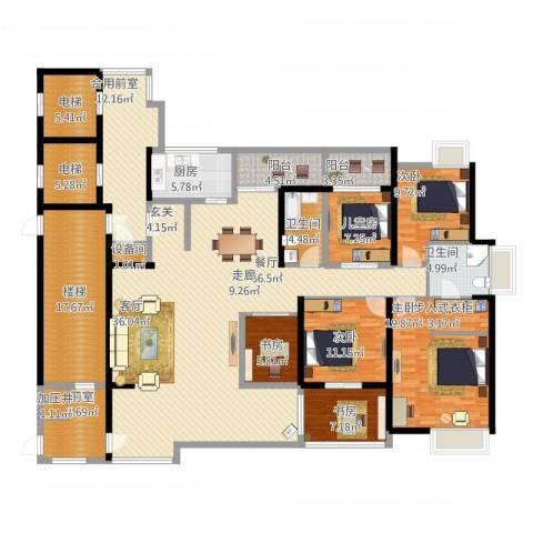 九鼎国际城公寓6室1厅2卫1厨285.00㎡户型图