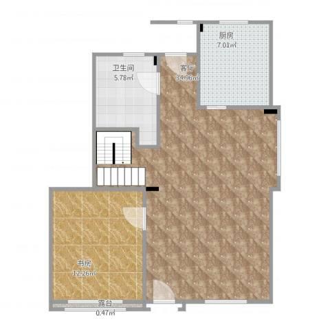 万科海港城1室1厅1卫1厨81.00㎡户型图