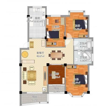 小城春秋4室2厅2卫1厨161.00㎡户型图