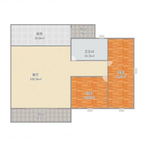 鸣顺辉豪庭2室1厅1卫1厨315.00㎡户型图