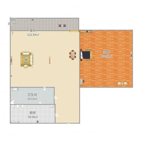 清河小区1室1厅1卫1厨609.00㎡户型图