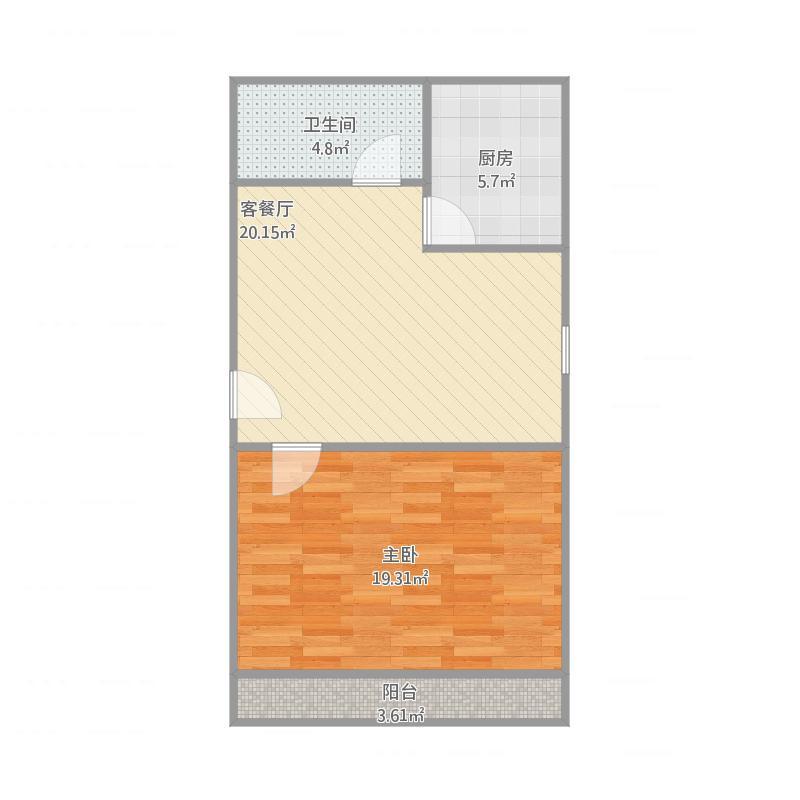 湖光苑52平一室