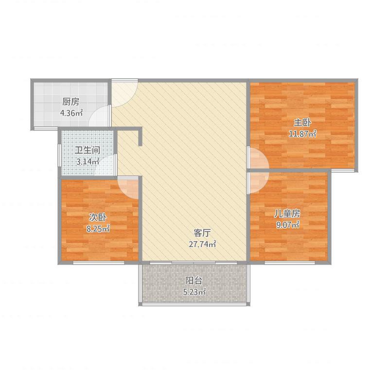 奥林华府三期,96平三室